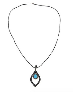 Open Pear Drop Necklace