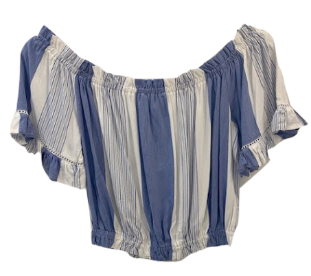 Tia Top - Blue/White Stripe
