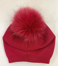 Load image into Gallery viewer, Cashmere and Fur Pom Hat
