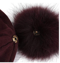Load image into Gallery viewer, Fur Pom Hat