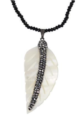 Feather Pave Necklace