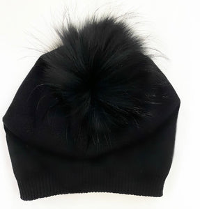 Cashmere and Fur Pom Hat
