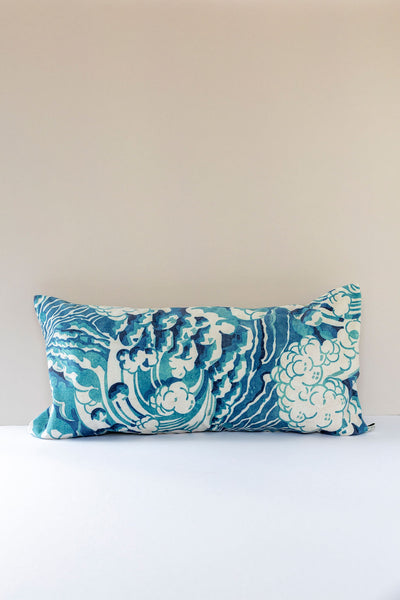 The Wave Cushion in Mineral Blue 30 x 60cm