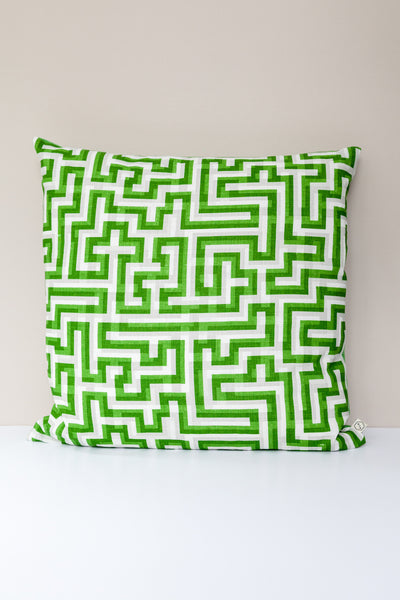 Meander cushions in Emerald Green: Anni Albers