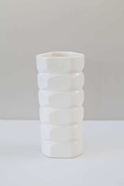 large facet vase