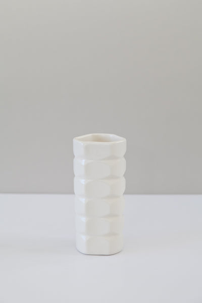 small facet vase