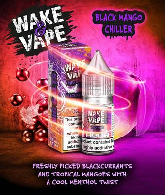 Wake & Vape Salt - Blackcurrant Mango Ice (Box of 10)