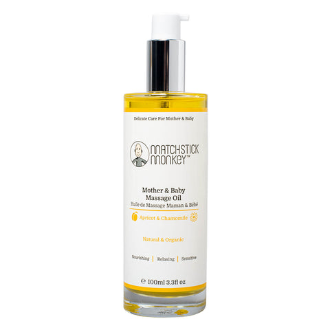 matchstick monkey mother and baby massage oil