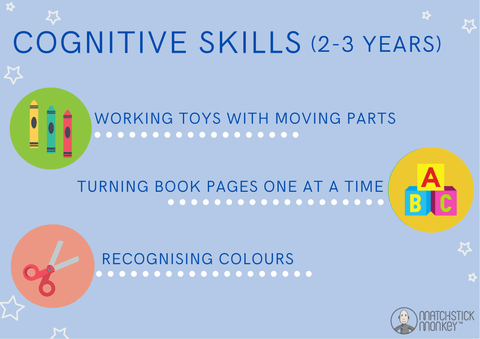 cognitive skills 2-3years