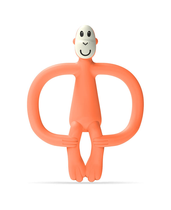 Orange Monkey Teether - Front