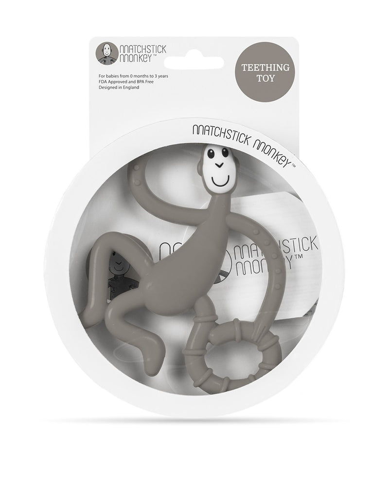Grey Dancing Monkey Teether - Packaging