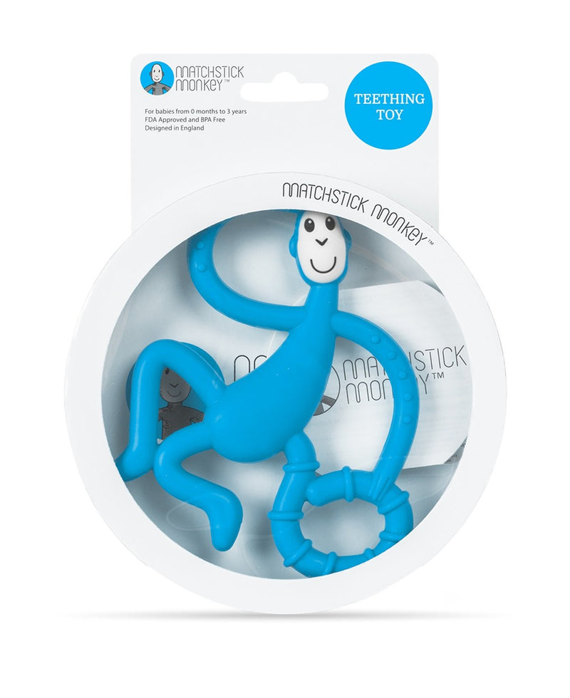 Light Blue Dancing Monkey Teether - Packaging