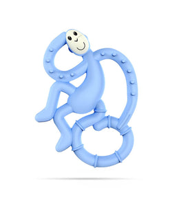 Light Blue Mini Monkey Teether - Front