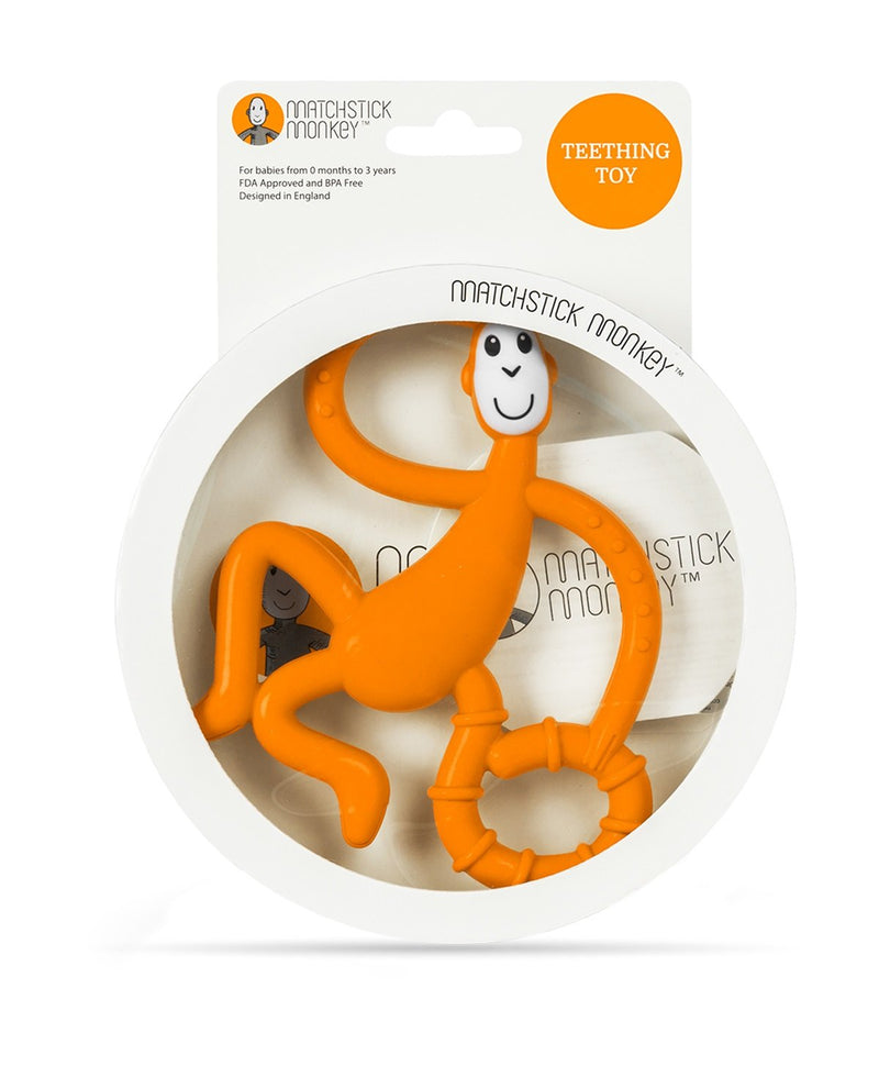 Orange Dancing Monkey Teether - Packaging