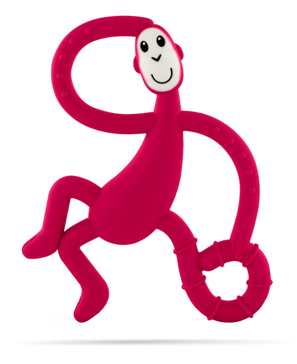Red Dancing Monkey Teether - Front