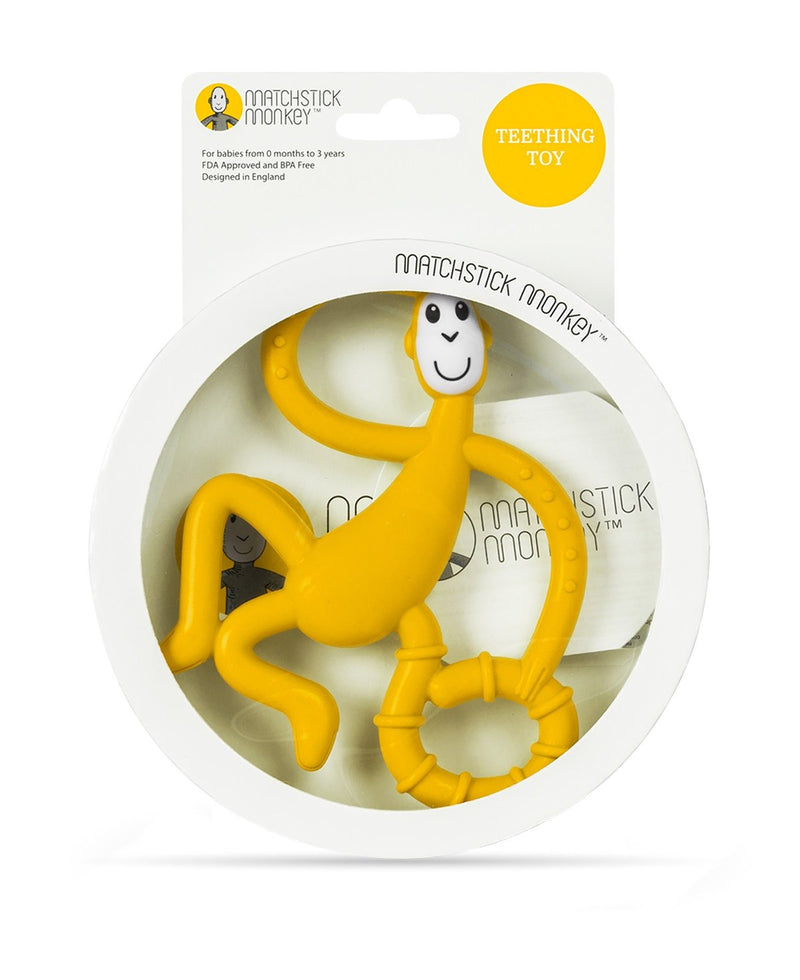 Yellow Dancing Monkey Teether - Packaging