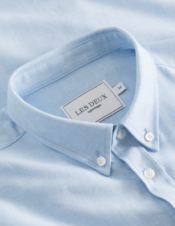 Les Deux MEN Christoph Oxford Shirt Shirt 4141-Light Blue