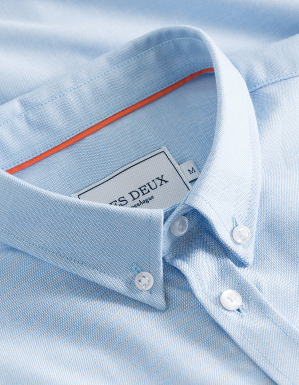 Les Deux MEN Oliver Oxford Shirt Shirt 4141-Light Blue