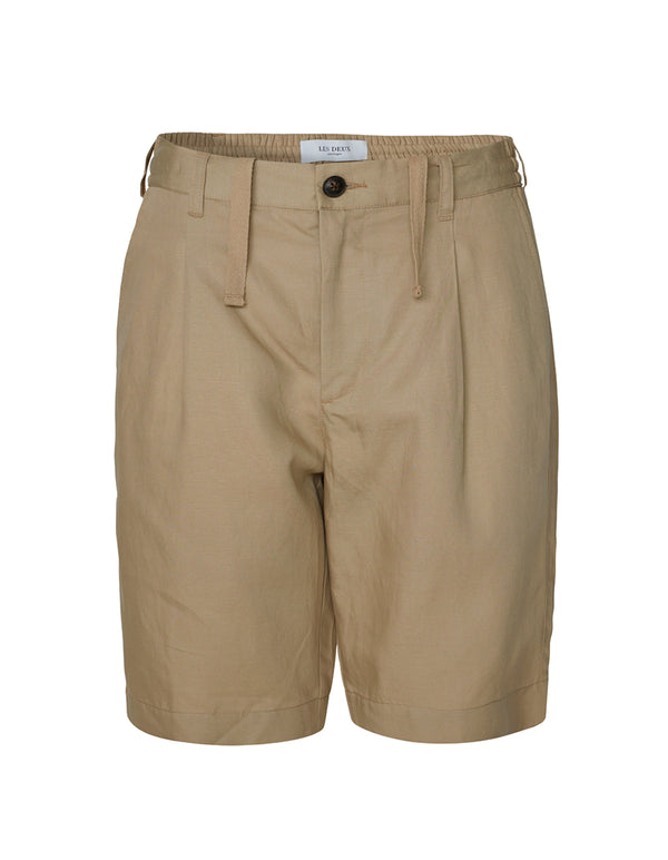 Les Deux MEN Preston Seersucker Shorts Shorts 810810-Dark Sand