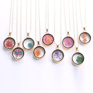 Dried Flower Necklaces