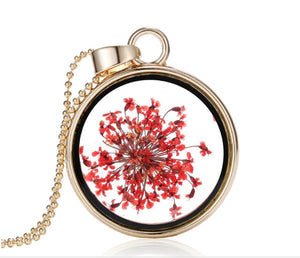 Dried Flower Necklace