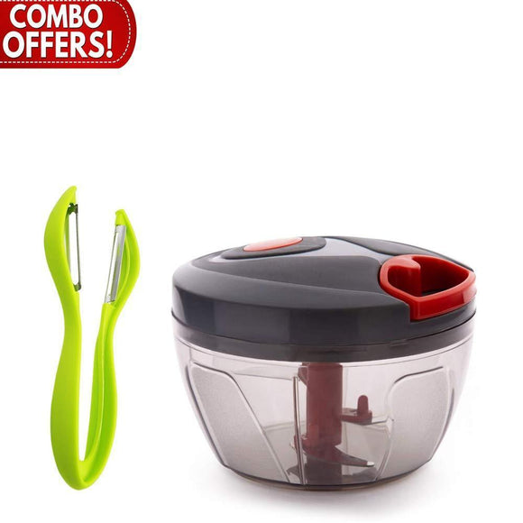Your Brand Kitchen combo - Handy Vegetable Chopper and Dual Sided Vegetables Peeler