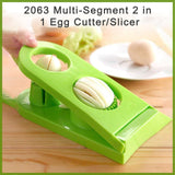 2063 Multi-Segment 2 in 1 Egg Cutter/Slicer