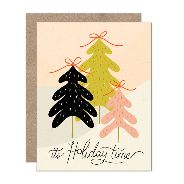 It's Holiday Time Modern Abstract Card
