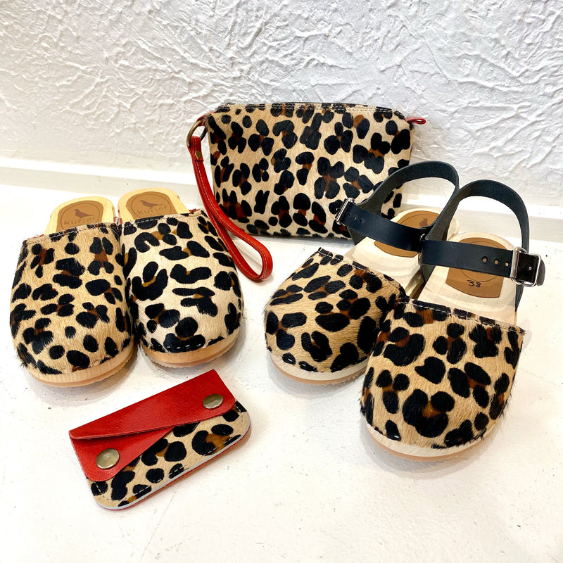 "Leopard ""hair-on"" Charlie clogs"
