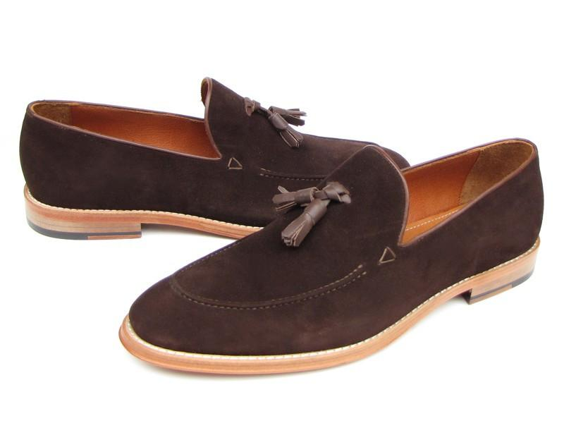 Paul Parkman Men's Suede Tassel Loafer - Brown