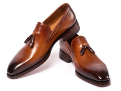 Paul Parkman Brown Goodyear Welted Tassel Loafers