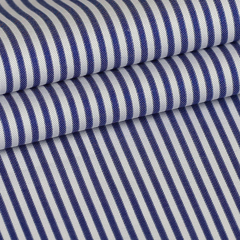 Blue Stripe Custom Shirt Fabric, 100% Cotton
