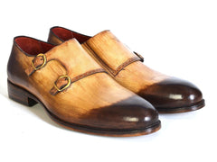 Paul Parkman Two-Tone Double Monkstrap Shoes