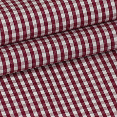 Burgundy Squares Custom Shirt Fabric - 100% Cotton
