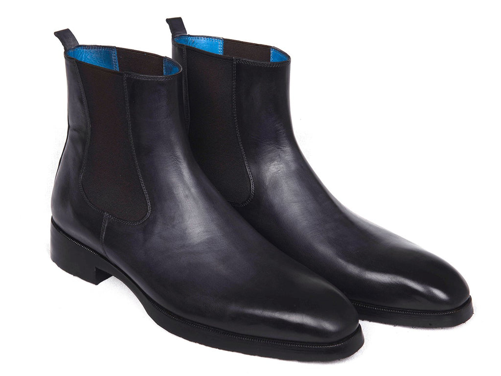 Paul Parkman Black & Gray Chelsea Boots