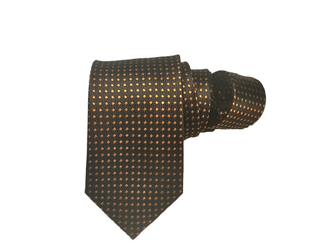 Black and Gold - 100% Silk Woven Tie