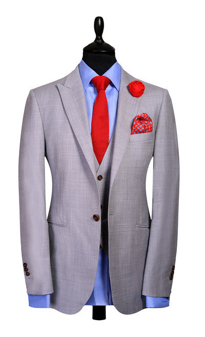 Grey - Super120, 100% Wool
