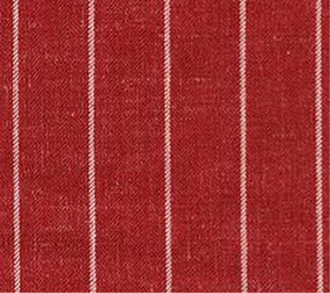 Red Pinstripe - 55% Wool / 15% Linen / 30% Silk