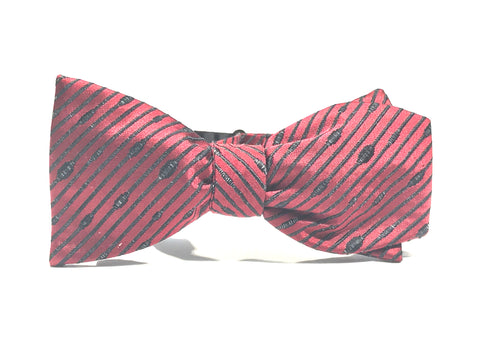 Lines of Distinction, 100% Silk Woven Bow Tie (Self Tie)