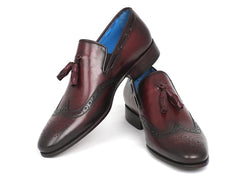 Paul Parkman Men's Wingtip Tassel Loafers - Bordeaux