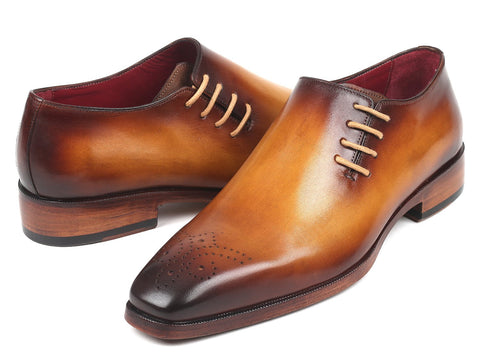 Paul Parkman Side Lace Oxfords Brown & Camel