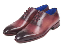 Paul Parkman Burgundy Hand-Painted Classic Brogues