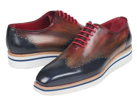 Paul Parkman Men's Smart Casual Wingtip Oxfords Multi-color