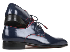 Paul Parkman, Medallion Toe, Navy Derby Shoes