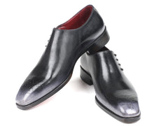 Paul Parkman Side Lace Oxfords Gray Burnished