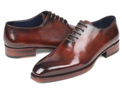 Paul Parkman Goodyear Welted Wholecut Oxfords, Hand-Painted Brown