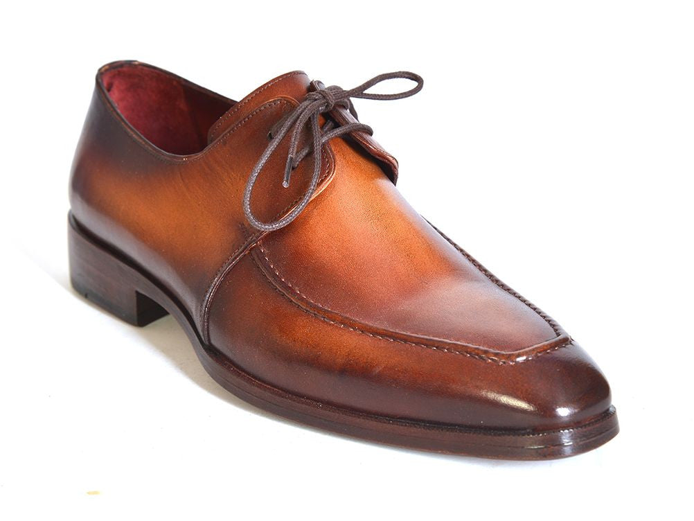 paul parkman brown leather apron derby shoes styles by kutty