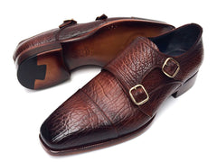 Paul Parkman Double Monkstraps Brown Leather Upper & Leather Sole