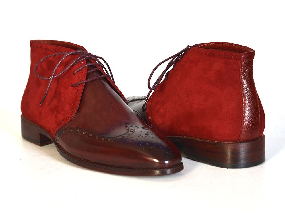 e152343ce33cd Paul Parkman Men's Chukka Boots Bordeaux Suede & Leather – Styles By ...