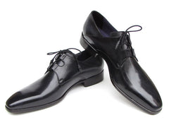 Paul Parkman Men's Ghillie Lacing Plain Toe Black Shoes